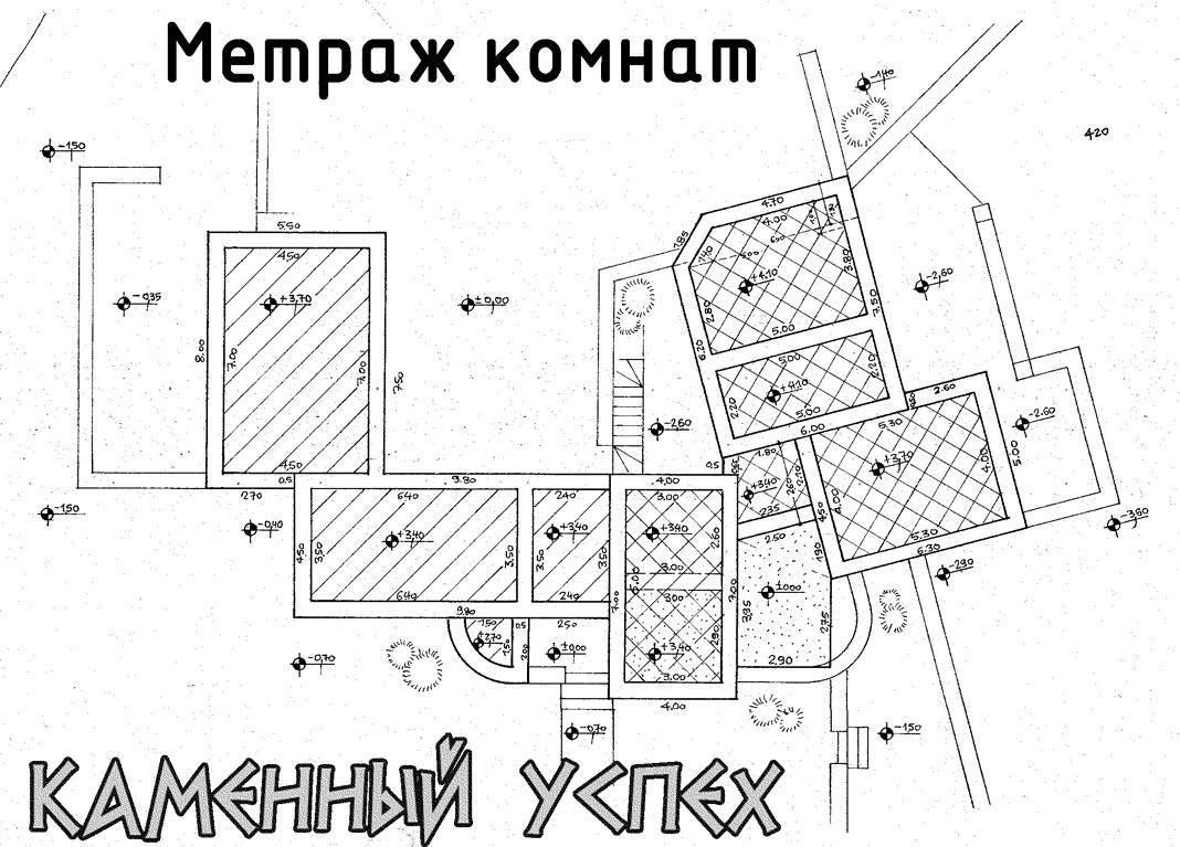 план дома с метражом