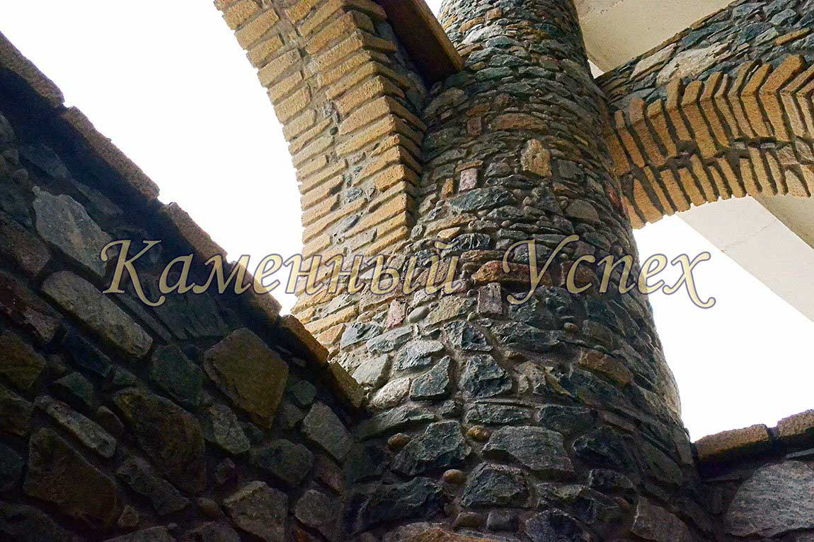 как строить колонны из гранита