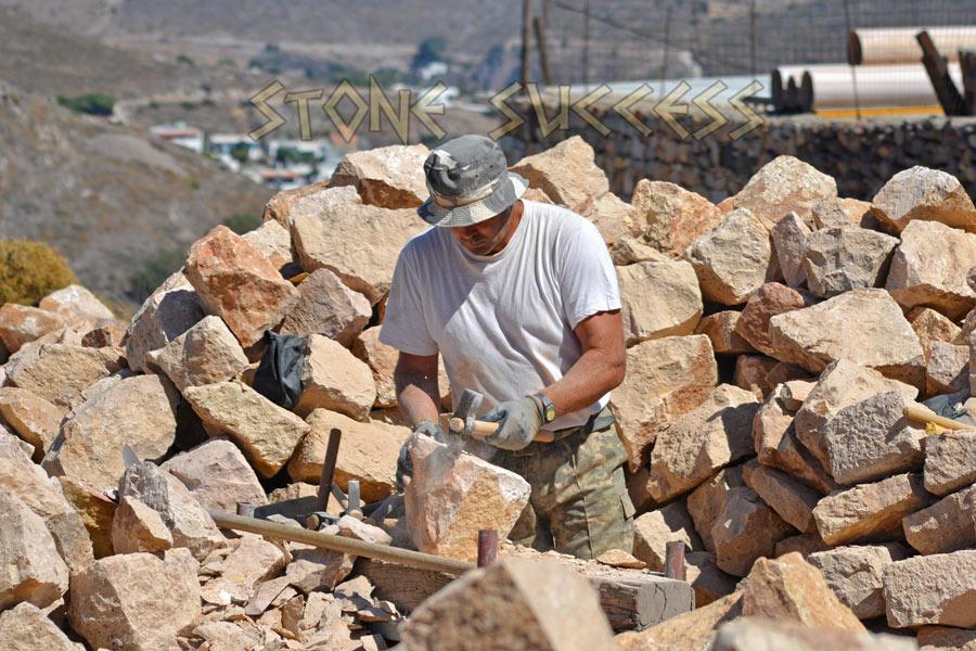 Обработка камня для дороги