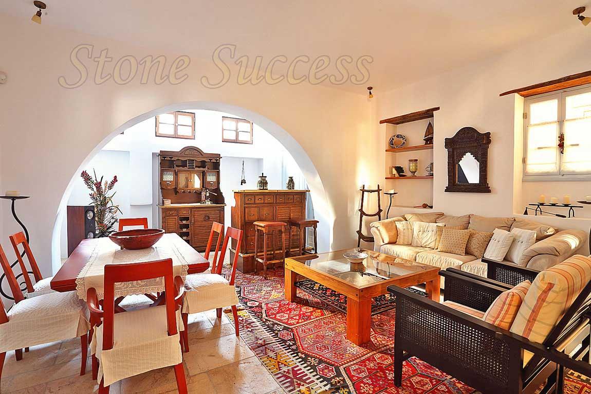 Греческий дизайн гостиная