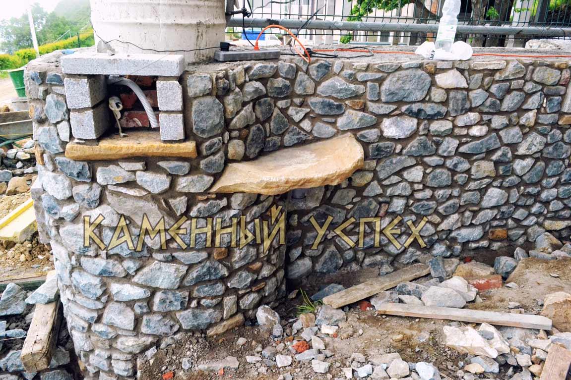 каменная полка строительство из гранита