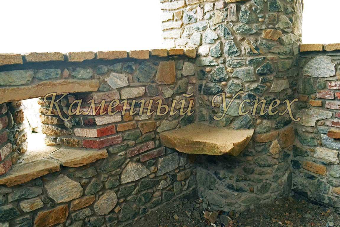 каменная колонна и столешница