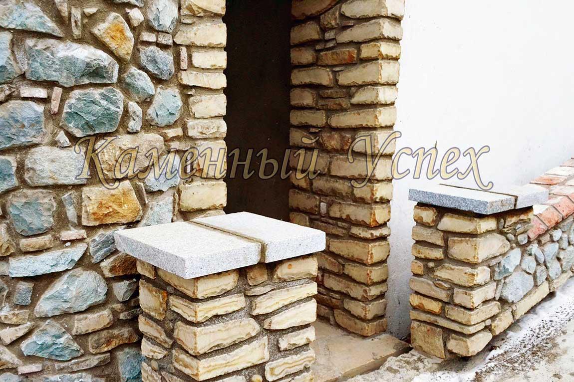 колонны из песчаника верхнее покрытие