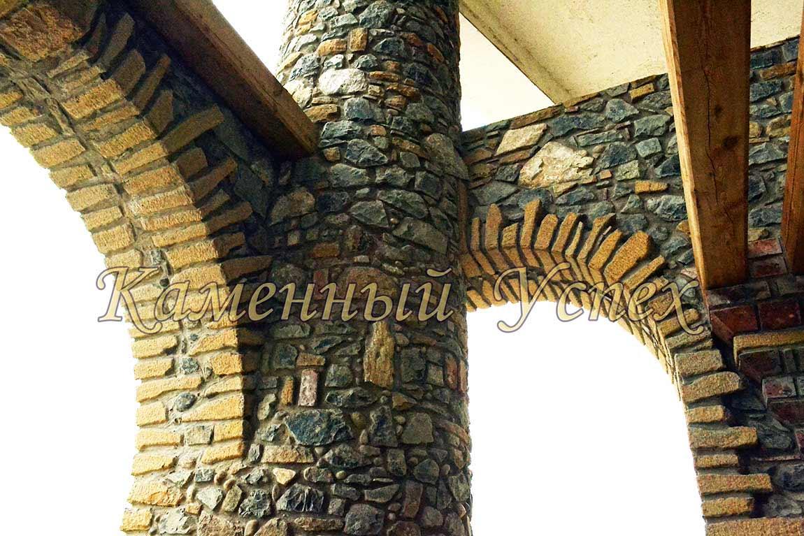 облицовка колонны гранитом