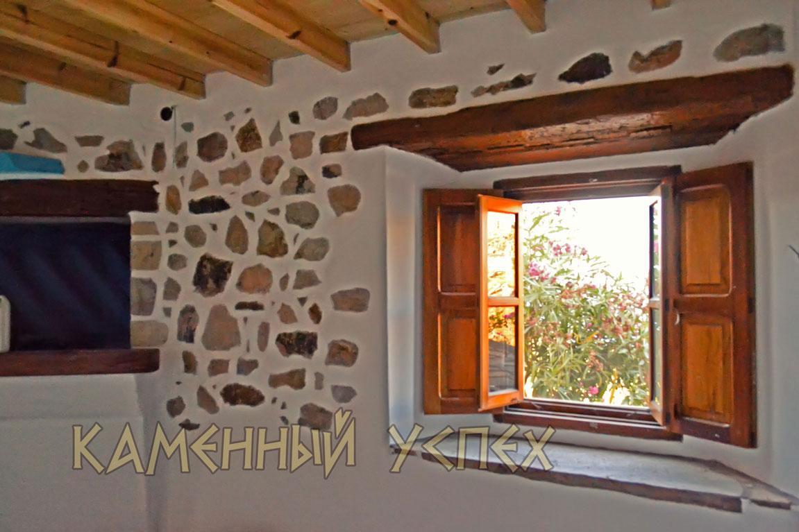 окно с видом на море Греция