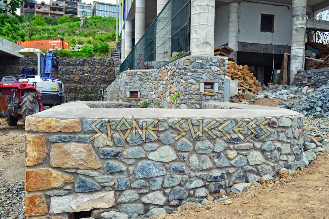 подпорная стена из гранита Владивосток