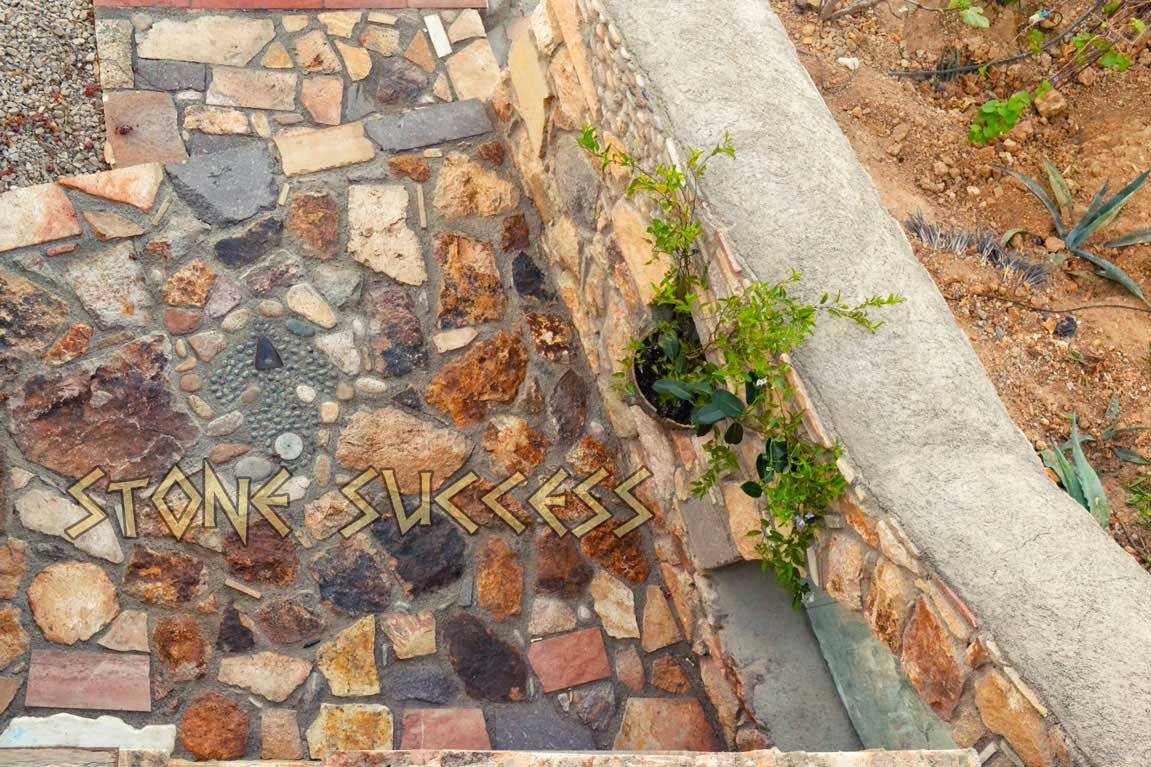 пол каменная мозаика