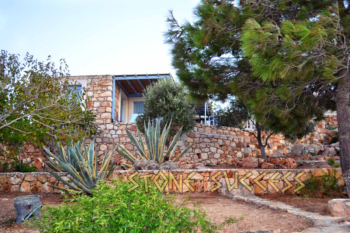 сад у виллы остров Патмос Греция