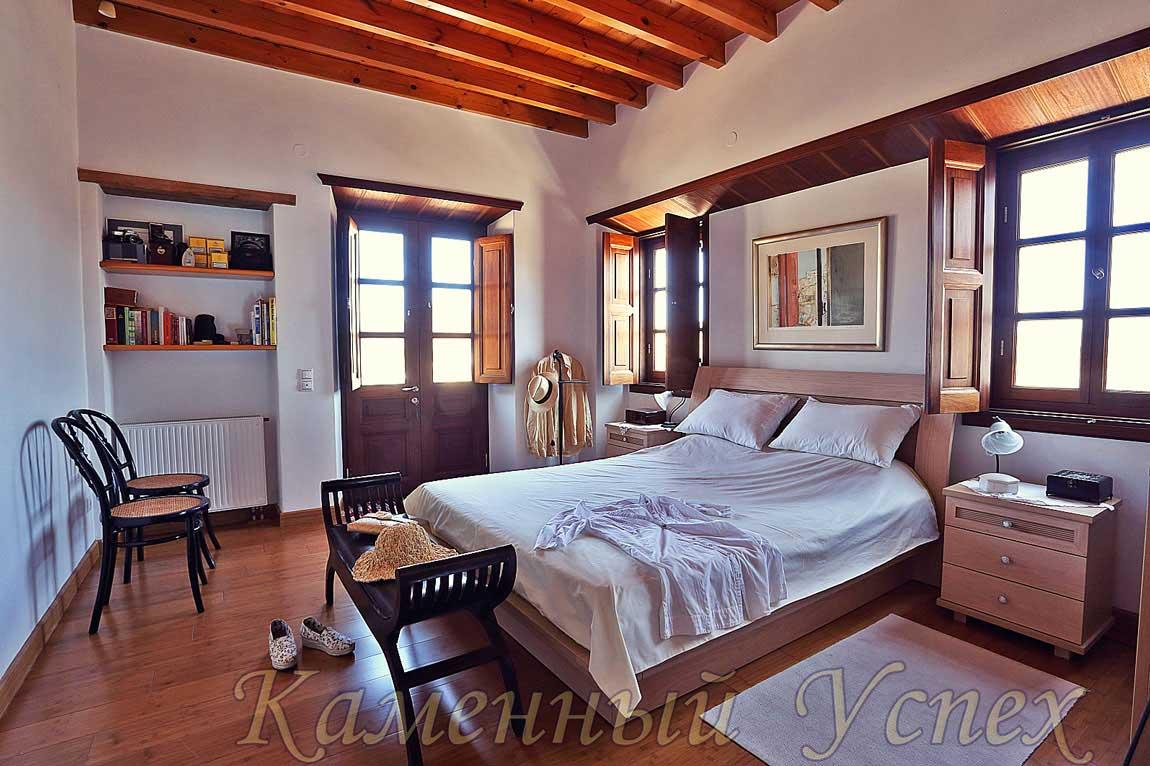 белая спальня интерьер Греции