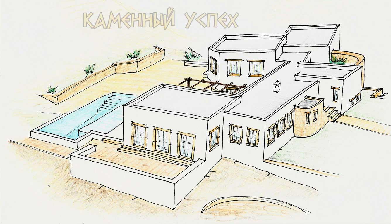 проект дома на острове Патмос