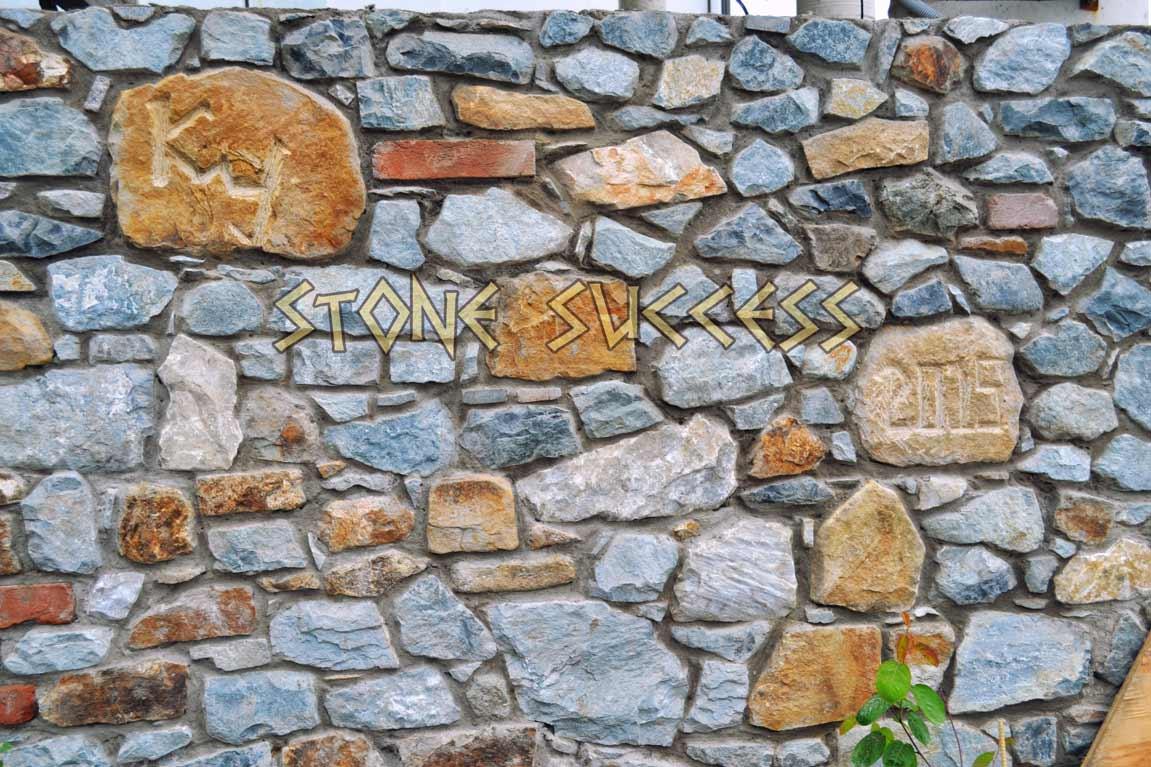 строительство стены из гранита