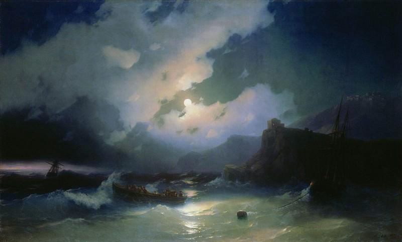"""Картина Айвазовского """"Патмос"""". 1854"""