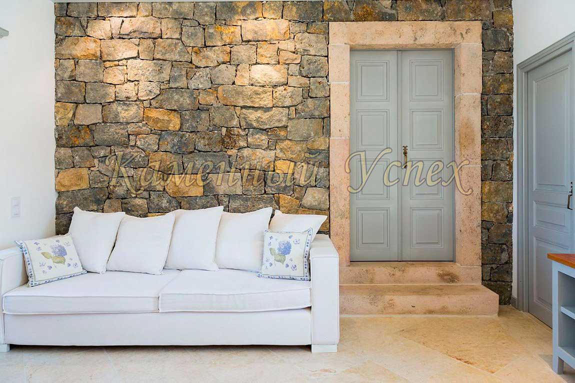 камни в интерьере дизайн Греции