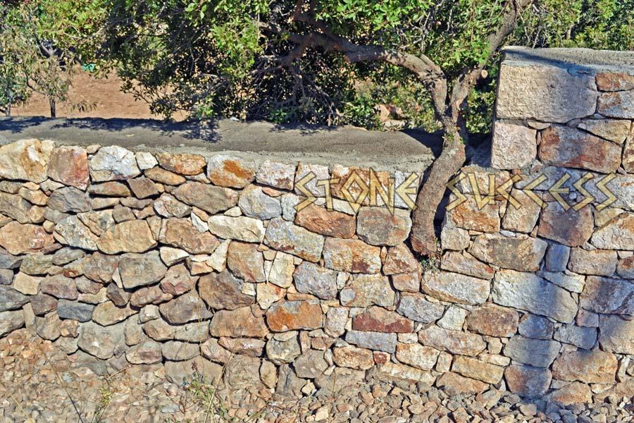 забор сухая кладка камня